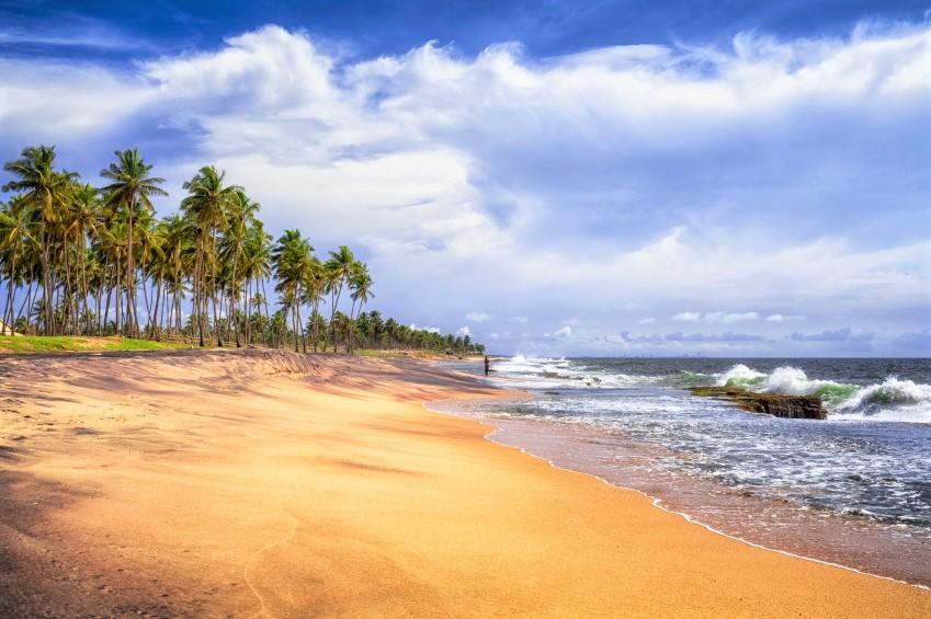 Negombo strand - start rondreis Sri Lanka