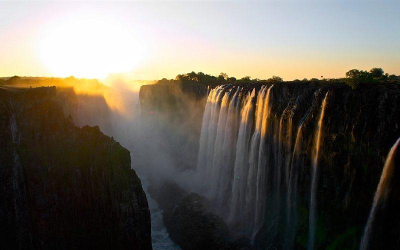 Victoria falls zonsondergang