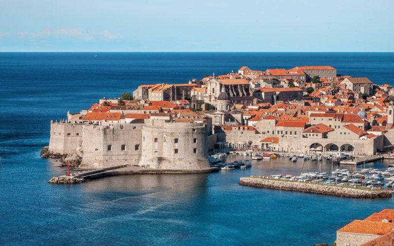 Zicht op Dubronik, Dalmatië, Kroatië