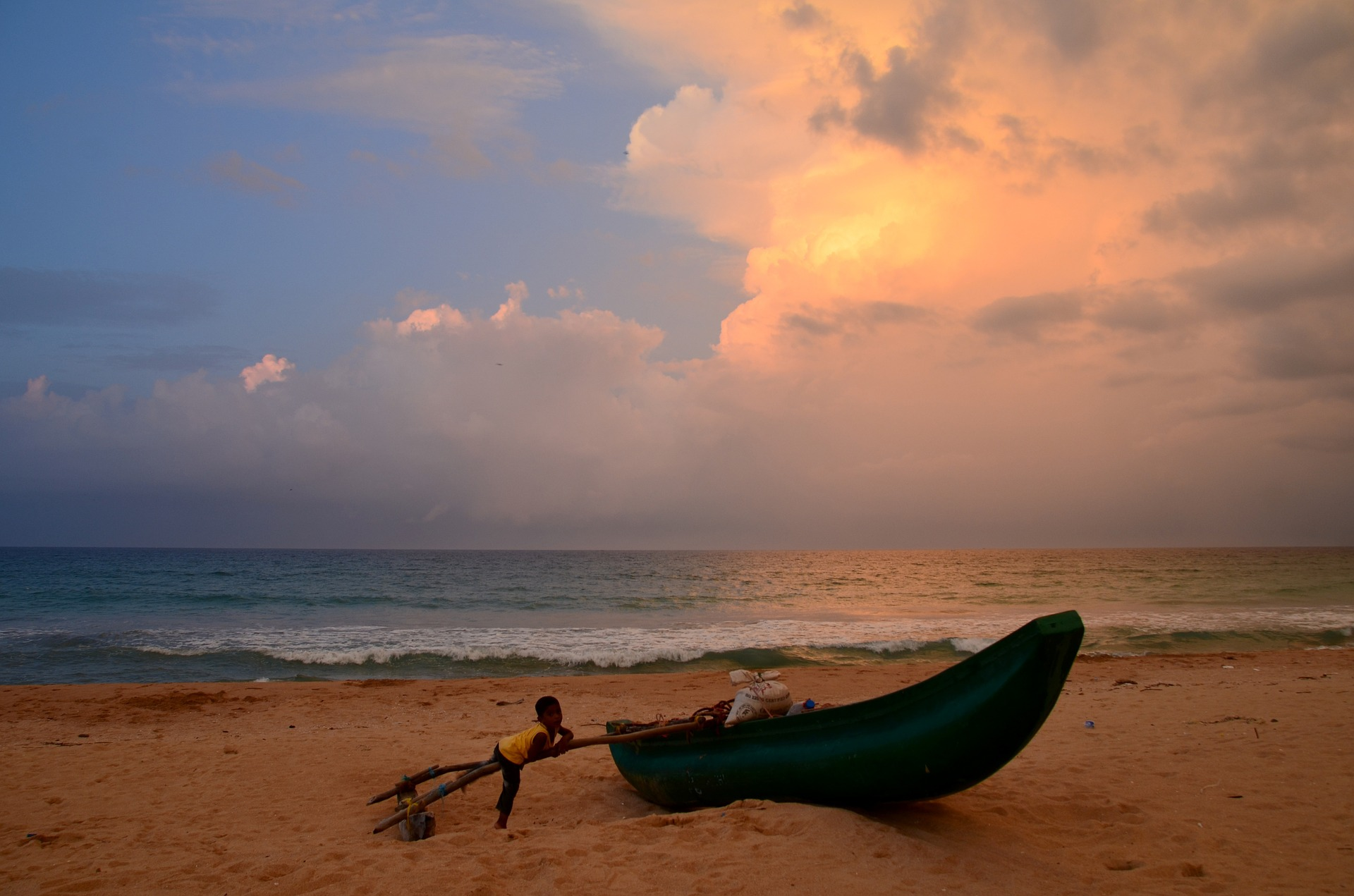 Strand Sri Lanka zuidkust